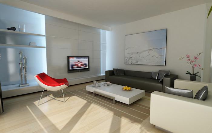 appartement design moderne décoration salon sobre et luxe