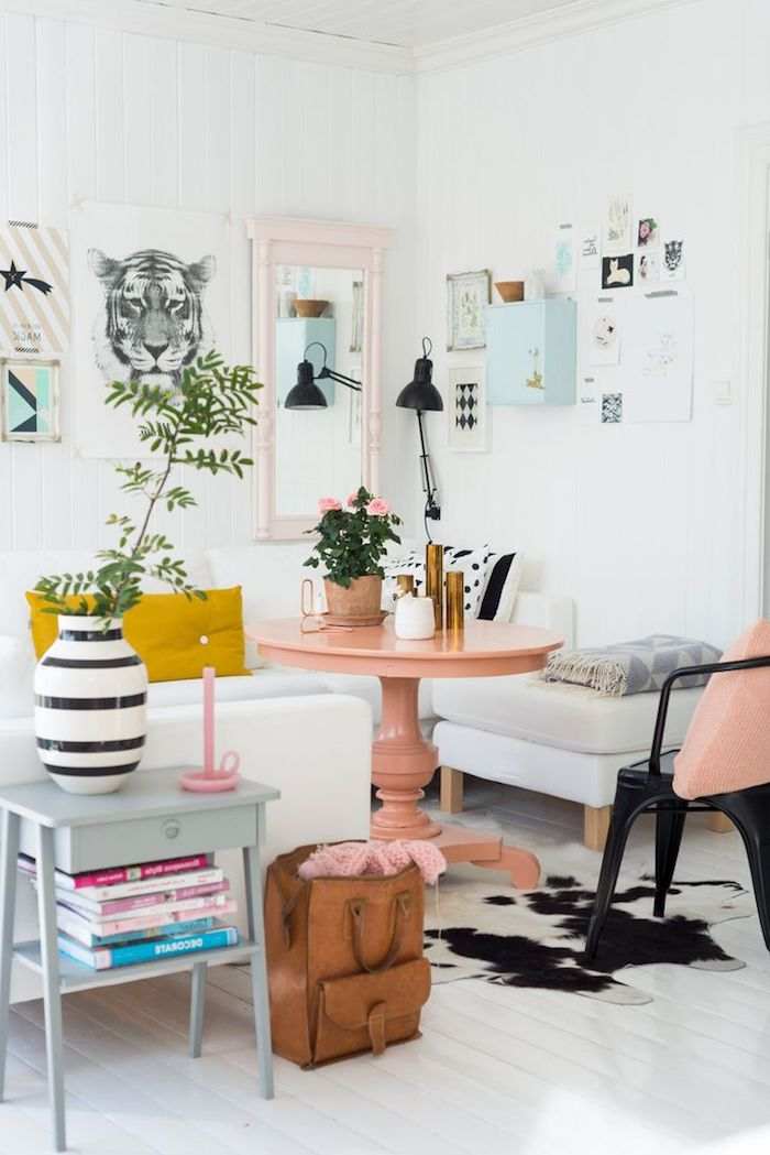 Beautiful salon scandinave pastel contemporary bikeparty for Table inspiration scandinave