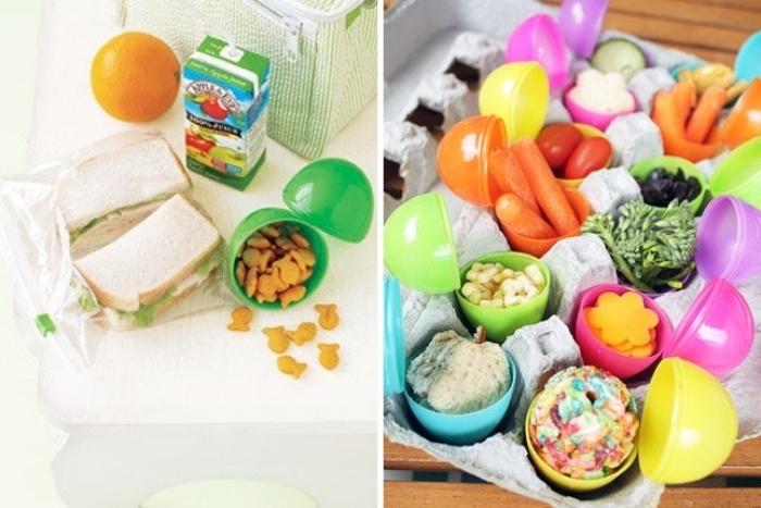 oeufs en plastique kinder surprise utilisé comme idée rangement nourriture, bricolage facile et intéressant