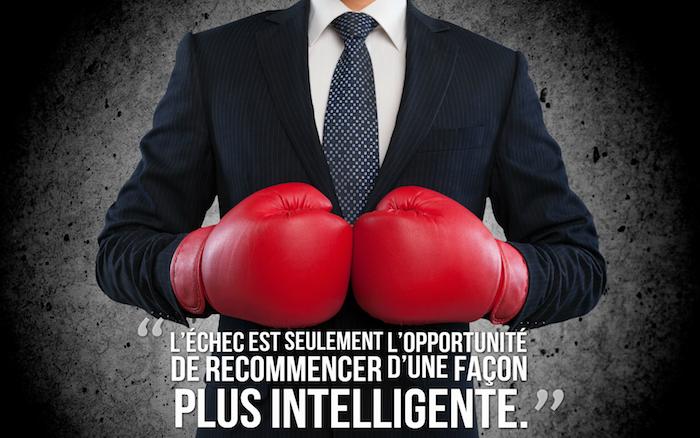 proverbes et citations, photo homme d'affaire, gants de boxe, phrase sur l'échec, fond d'écran bureau pour homme