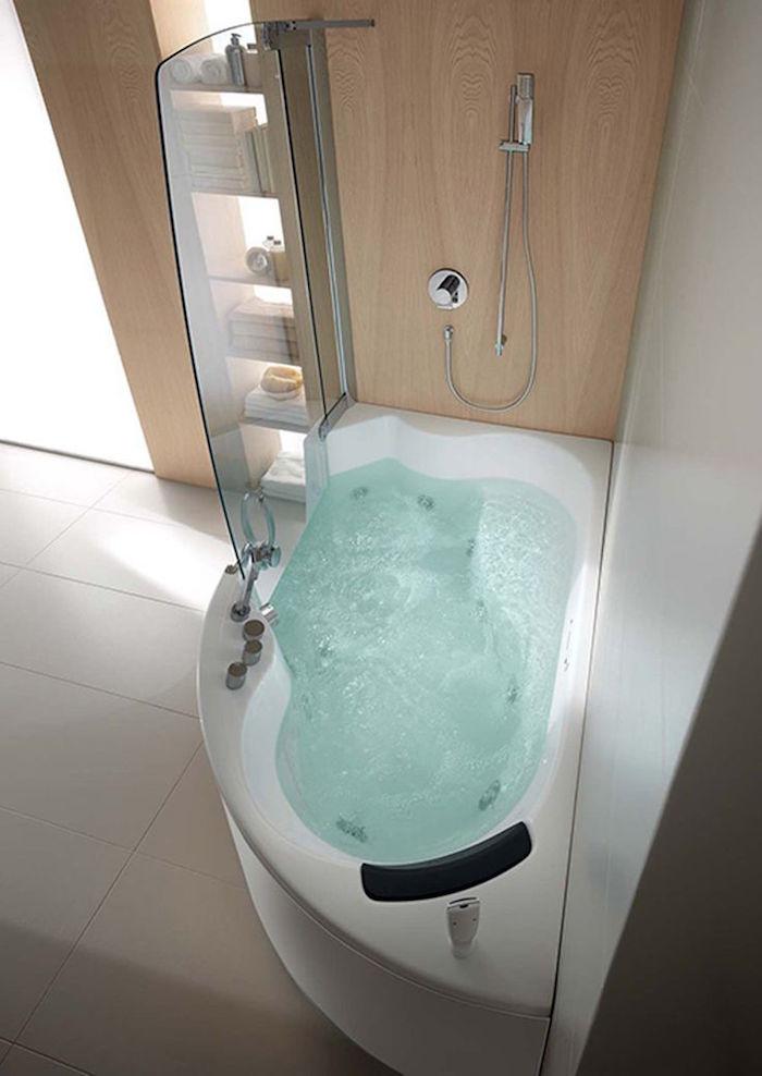 baignoire bulles jaccuzi angle petites dimensions
