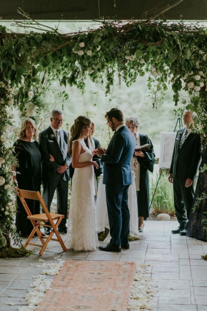 Honorable deco florale mariage arche florale arche de fleurs pour mariage tapis