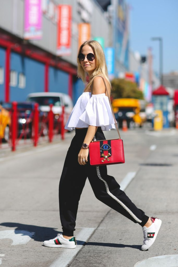 Tenue classique femme girl swag images swag attitude basket sac à main rouge