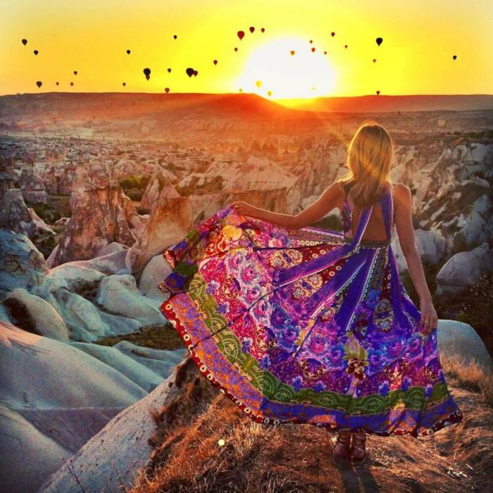 Hippie france robe soirée hippie chic style baba chic robe longue tenue hippie chic tenue de voyage