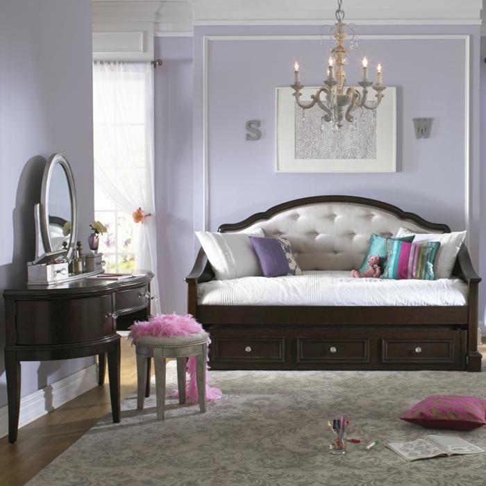 ▷ 1001 + idées pour la décoration d\'une chambre gris et violet