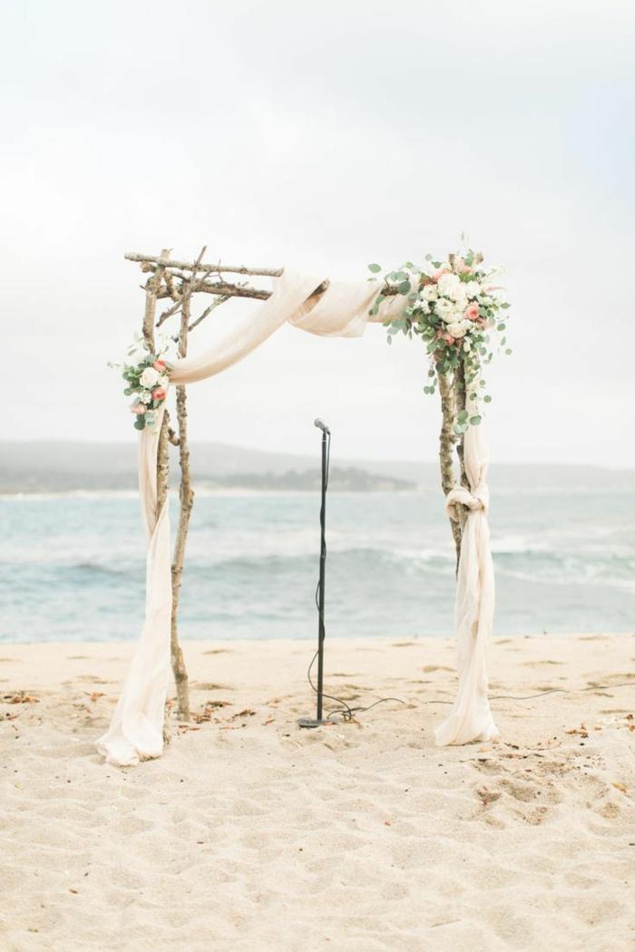 Centre de table mariage fleur fleurs mariage septembre idée mariage plage mariage