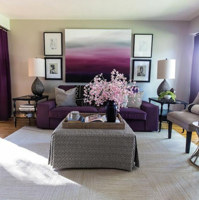 Idée papier peint chambre adulte violet parme deco chambre grise peinture salon adorable