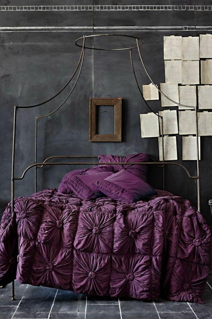 1001 Id Es Pour La D Coration D 39 Une Chambre Gris Et Violet