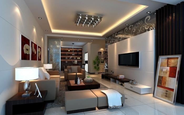 Image De Décoration Simple D Un Salon Avec écran Pla : Idées fantastiques pour la déco de votre salon moderne
