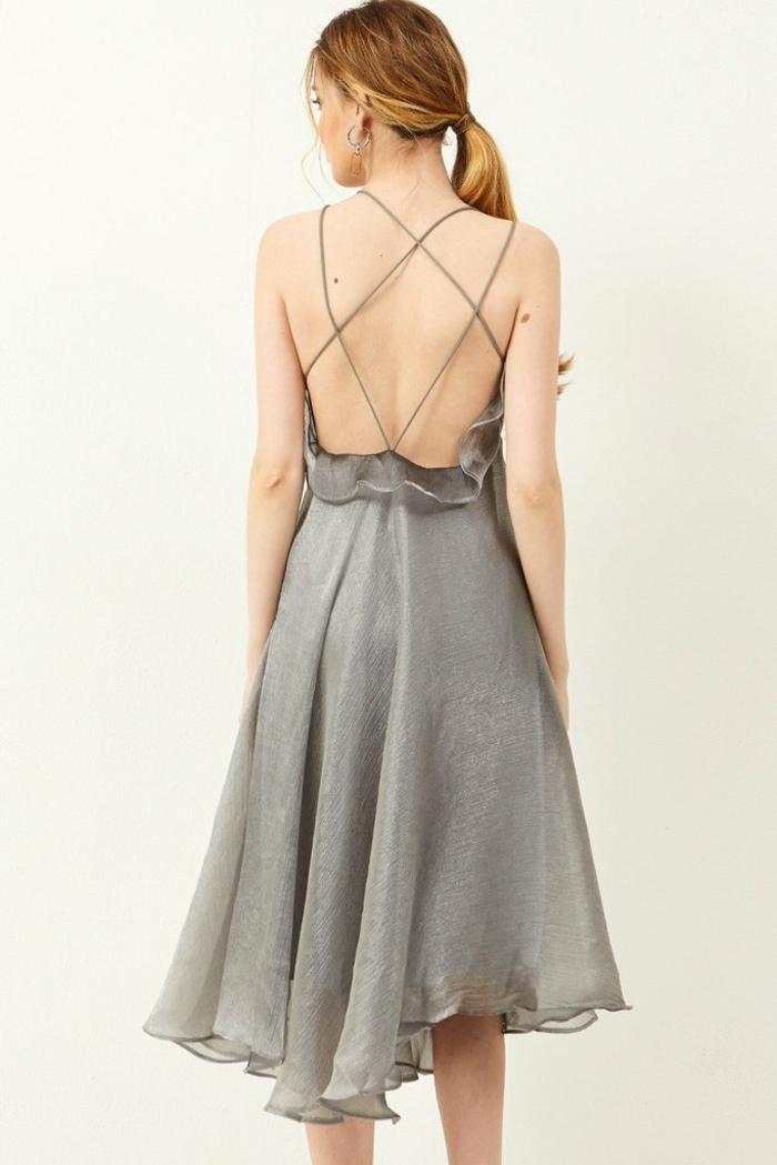 Formidable robe temoin de mariage tenue pour un mariage d ami robe gris belle