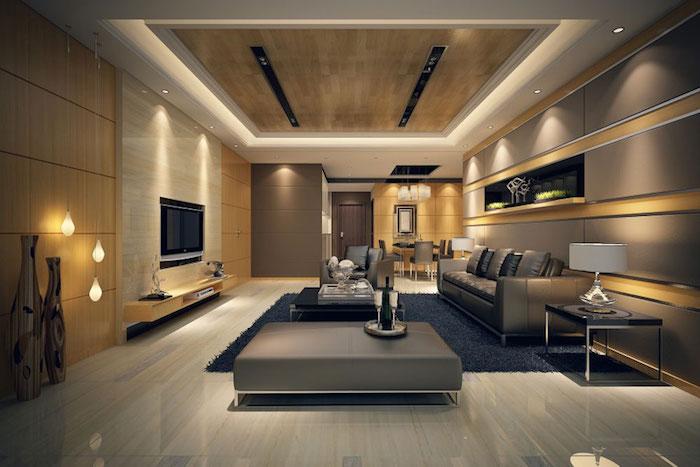 meubles salon de luxe a la decoration design moderne