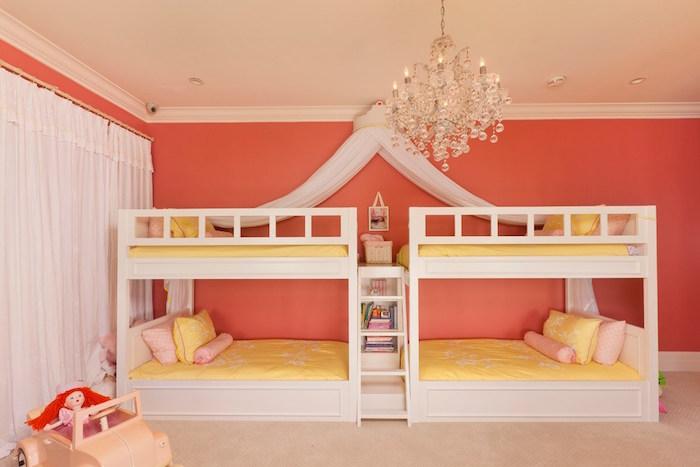 rose corail couleur abricot pour murs chambre enfants