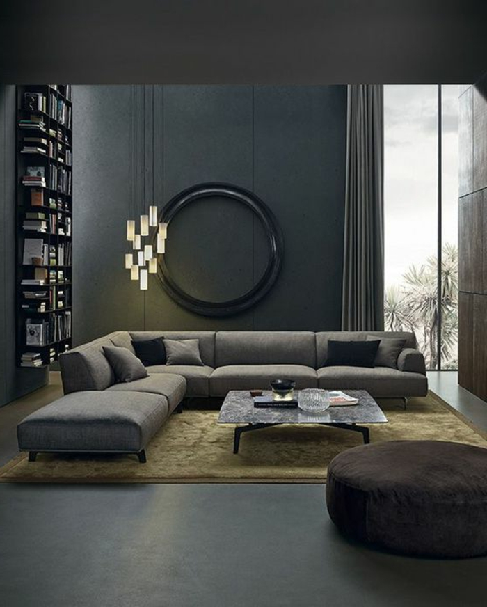 1001 id es fantastiques pour la d co de votre salon moderne - Deco miroir salon ...