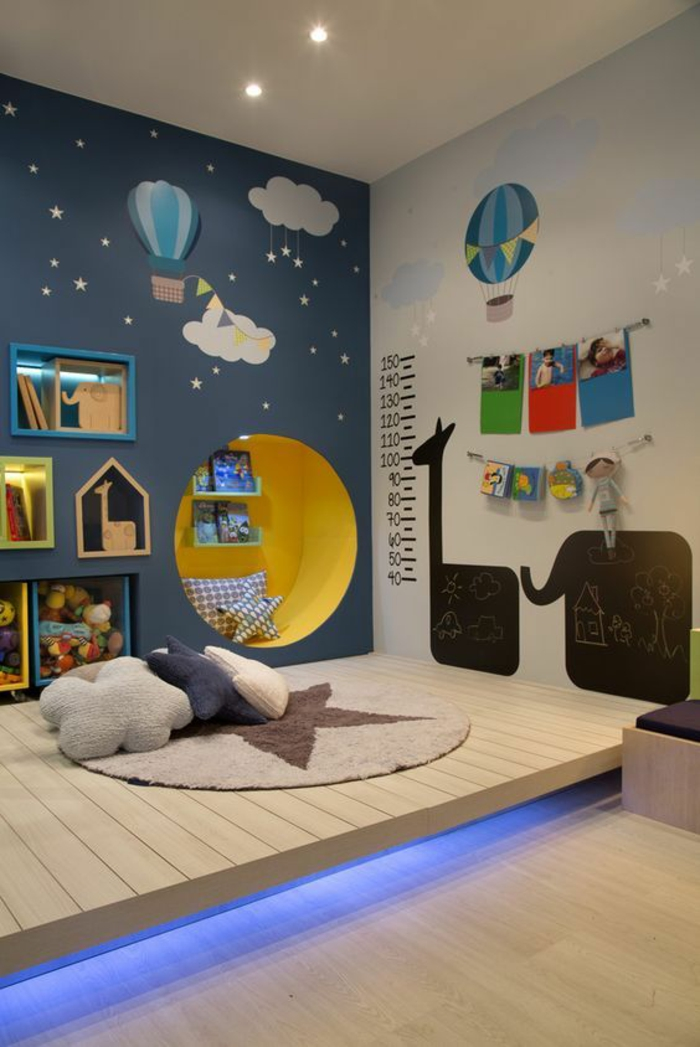 beautiful chambre bleu enfant photos. Black Bedroom Furniture Sets. Home Design Ideas