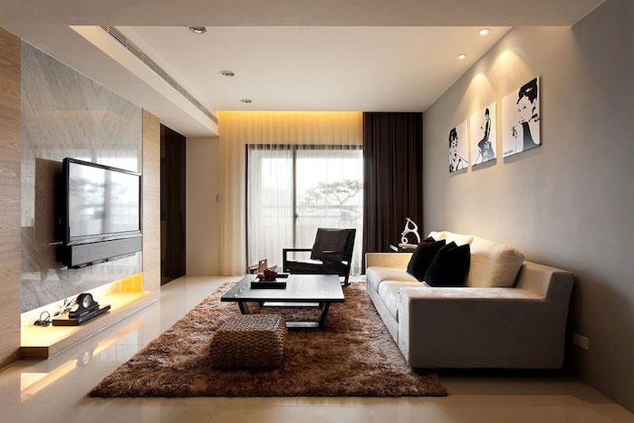 petit salon appartement avec deco simple moderne et touche vintage