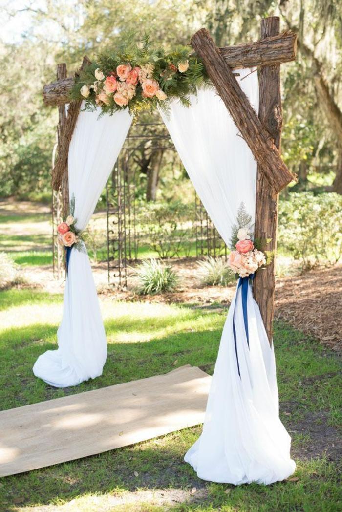 Arche fleurie mariage décoration fleur mariage bouquet mariée septembre mariage champetre