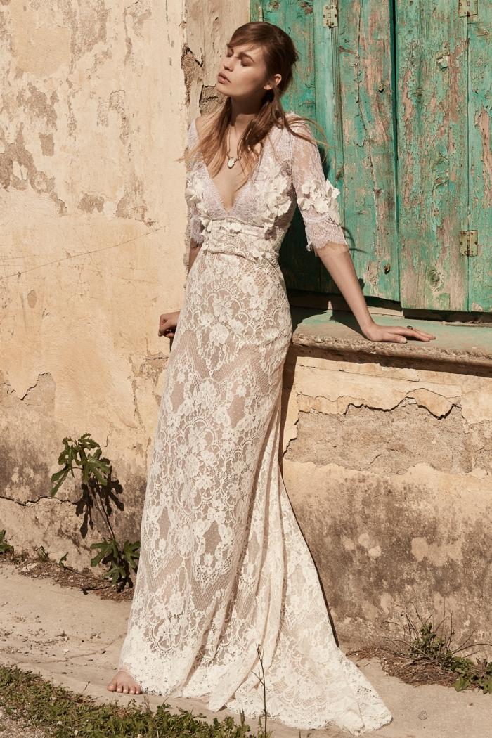 La robe de mariee dentelle robe de mariée pronuptia tendances dentelle longue