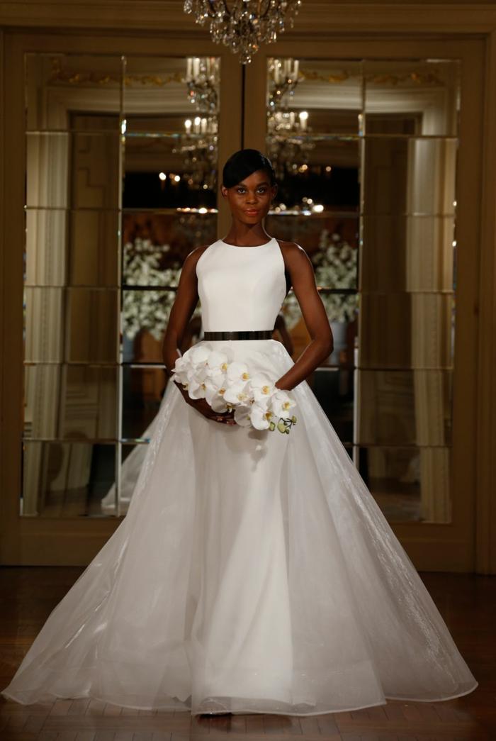 Délicat robe de mariée courte robe de mariée créateur tendance