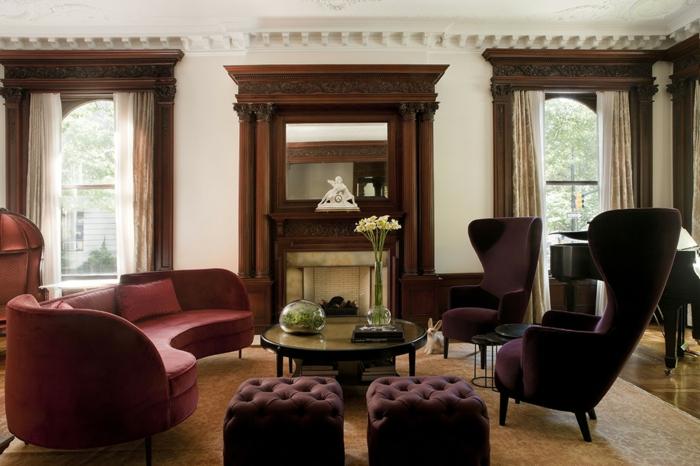 1001 id es comment combiner la couleur aubergine. Black Bedroom Furniture Sets. Home Design Ideas