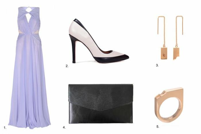 Robe chic pour mariage robe mariage bleu marine soirée robe longue belle idée accessoires mariage
