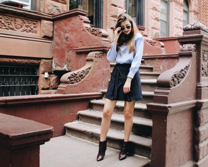 Bien s habiller comment s habiller demain moderne idée tenue jupe et chemise