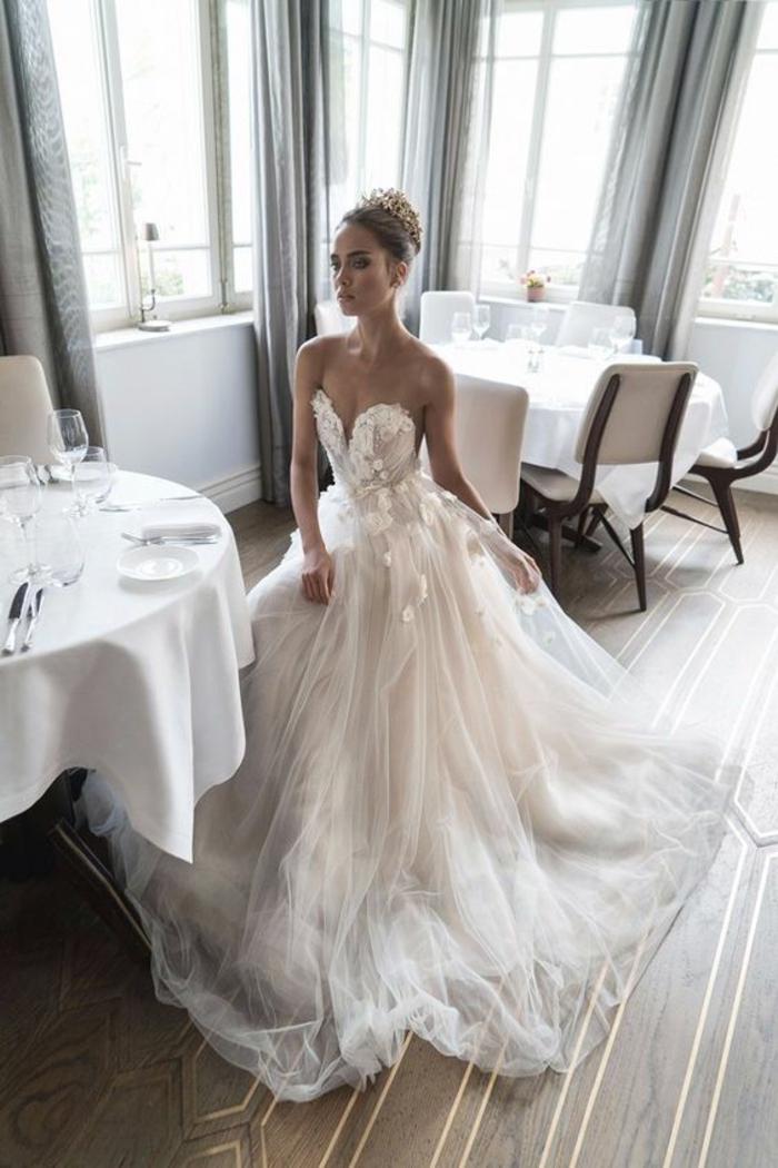 Magnifique robe mariée bohème robe de mariée haute couture swan lake
