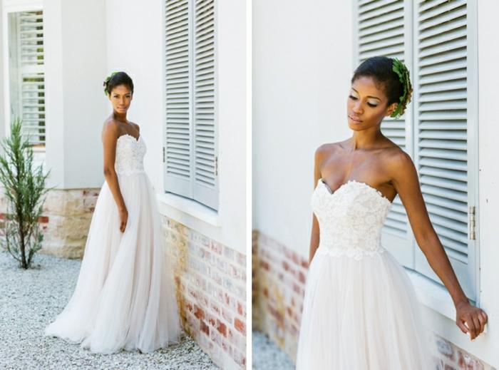 Robe de mariée fourreau robe de mariée rose ou blanche moderne quelle robe choisir