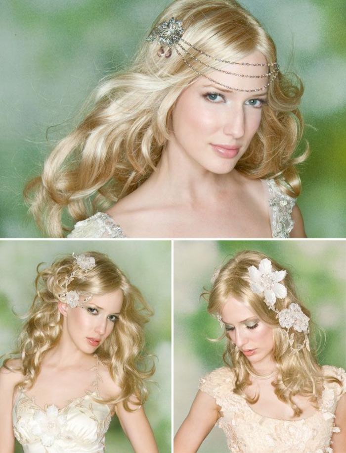 un maquillage discret et lumineux qui s'associe à merveille avec le blond miel et la coiffure détachée