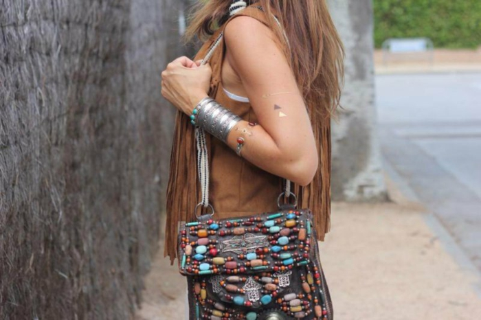 Tendance robe longue style hippie vetement style hippie chic