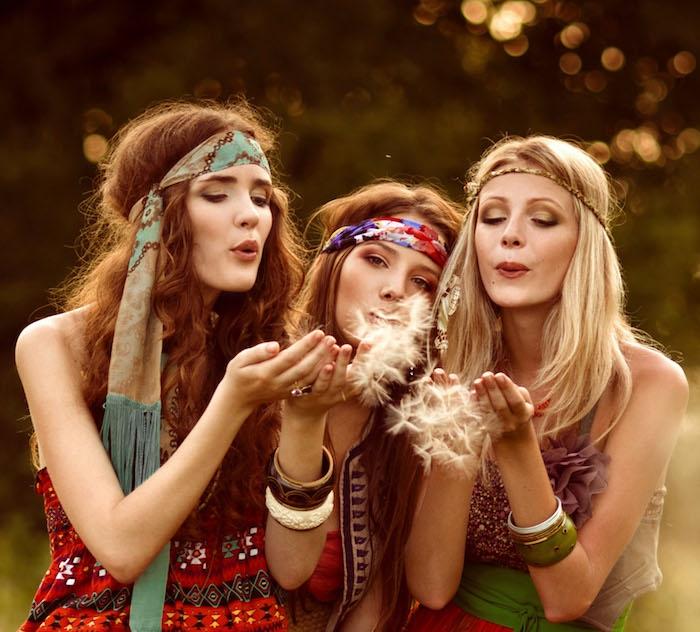 T-shirt hippie motif idée hippie veste amies hippie style tenue femme