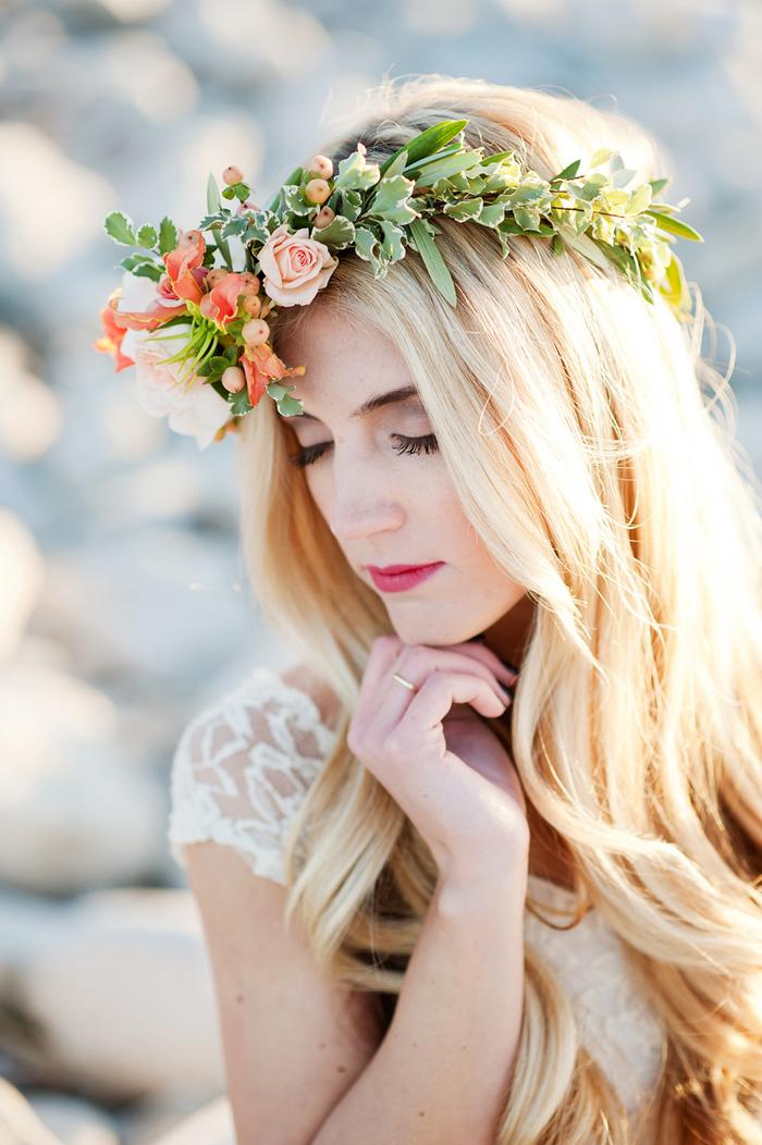 un maquillage mariage bohème chic sous le signe des fleur, une vision romantique et féminine