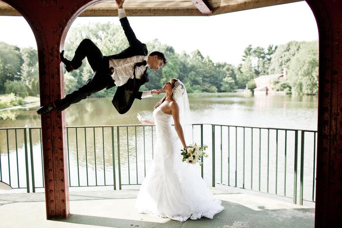comment réaliser une photo de couple originale, mariage original sur thème super héros