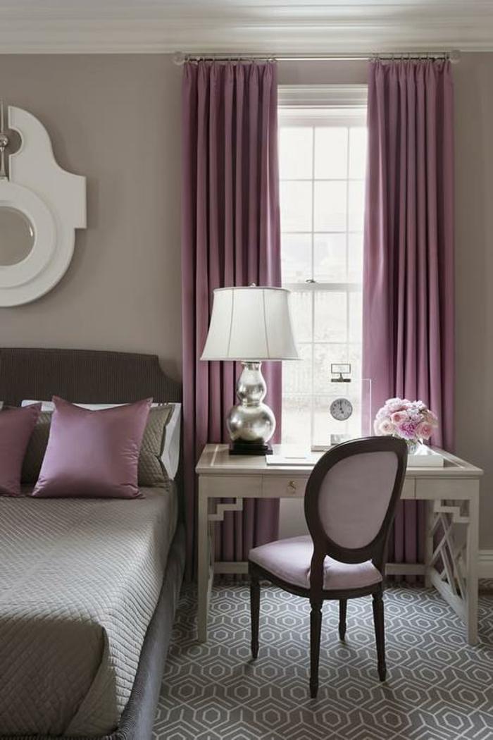 Déco chambre violet gris deco peinture chambre idee tapisserie chambre adulte