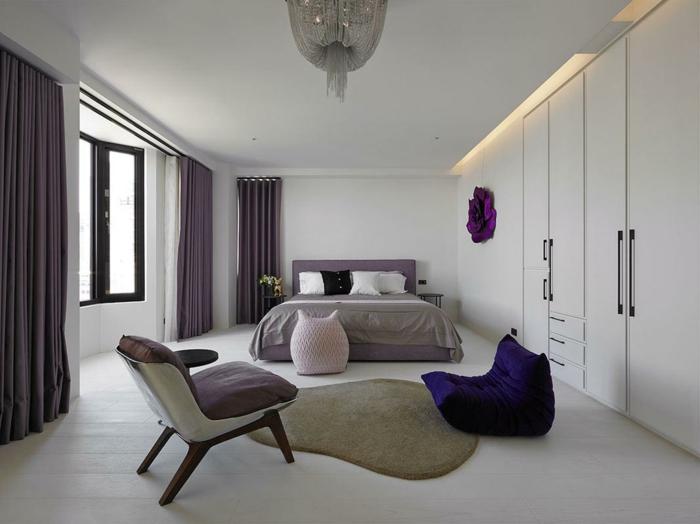 Chambre violet et taupe comment décorer la chambre gris