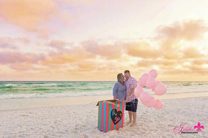 Annonce fille comment dire vos relatives que vous allez avoir une fille chouette idée photo a la plage