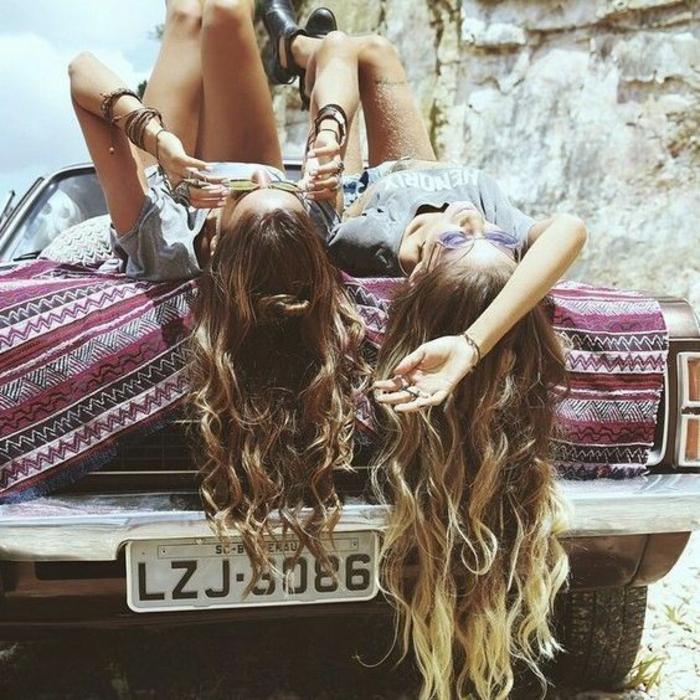 Jupe hippie chaussure hippie chemise hippie mode comment s habiller amies voiture hippie