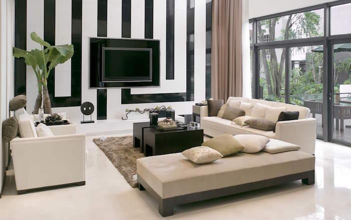decoration sejour maison moderne avec salon sobre et design