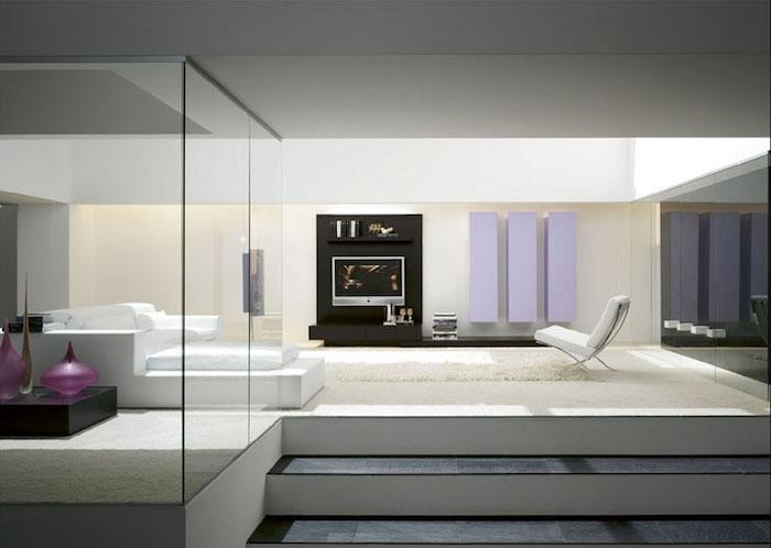 decoration espace salon séjour design moderne sobre et minimaliste