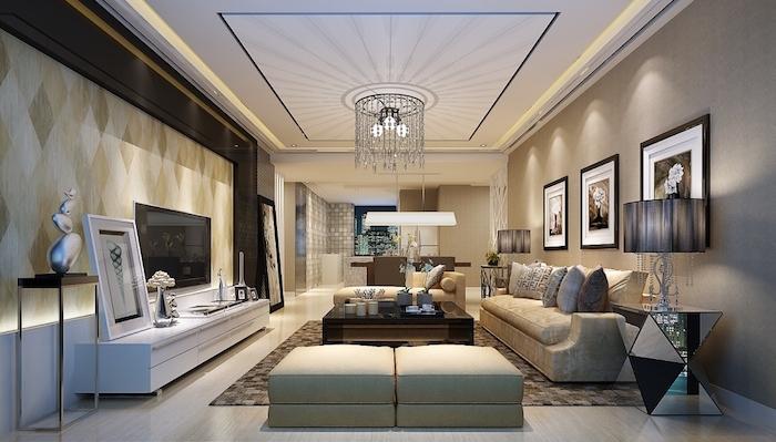intérieur séjour décoration au design vintage et moderne