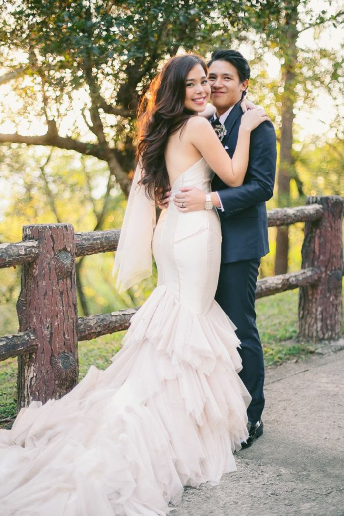 Votre robe de mariée asymétrique robe de mariée romantique