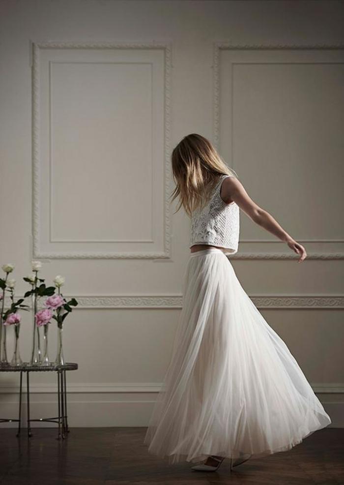 Choisir la plus belle robe mariée boheme dentelle robe mariée manche longue