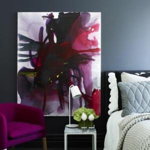 Comment combiner la couleur aubergine dans l'intérieur - idées en photos