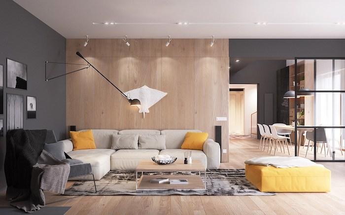 Photos Et Conseils Daménagement Dun Salon Scandinave - Canapé convertible scandinave pour noël decoration meuble salon
