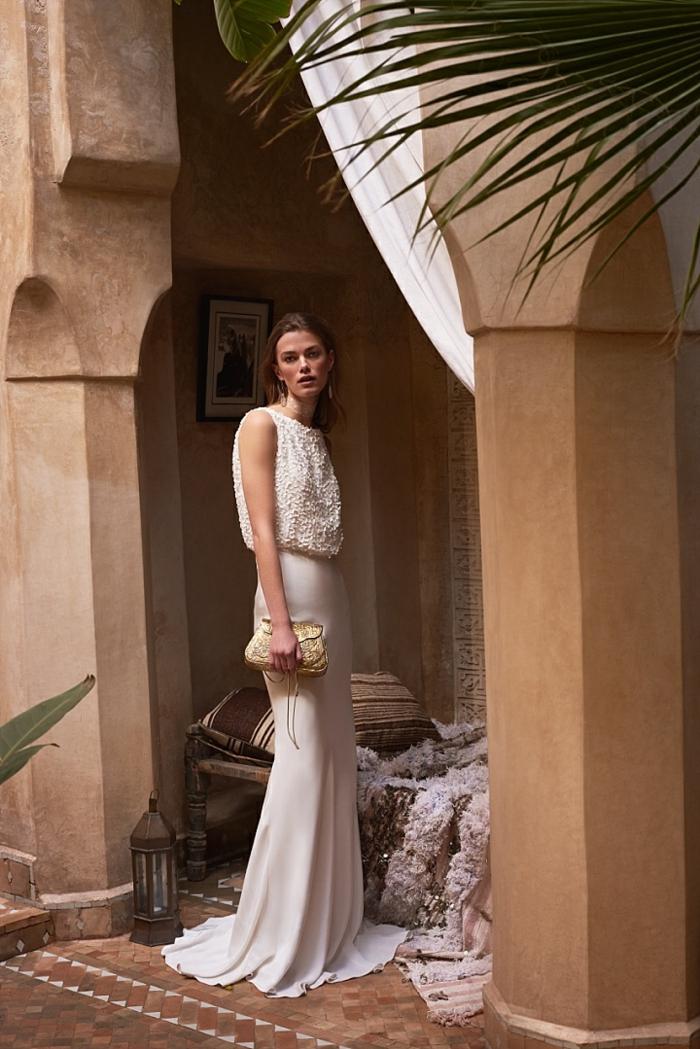 Eclatante robe de mariée couleur robe de marié sirene simple belle'