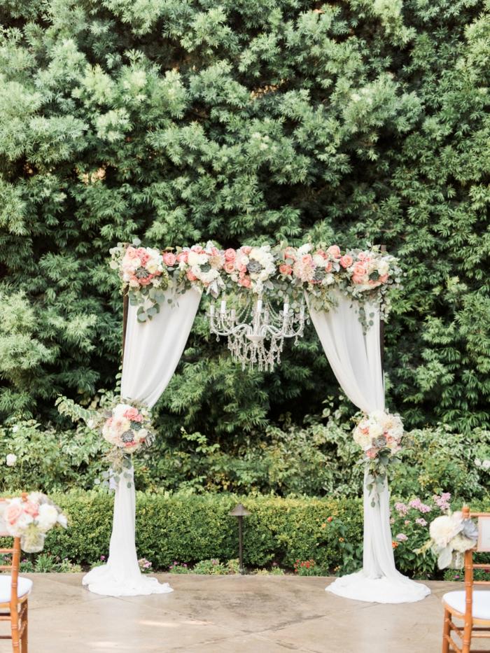 Géniale idée arche mariage une arche décoration arche mariage photo