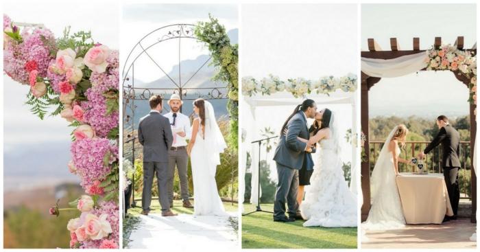 Amour arche fleurie mariage composition florale de mariage arc de mariage