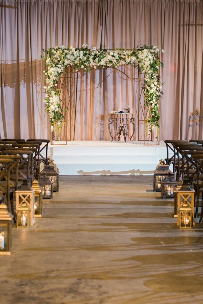 Creation florale deco fleur mariage arche mariage laique fleurs déco