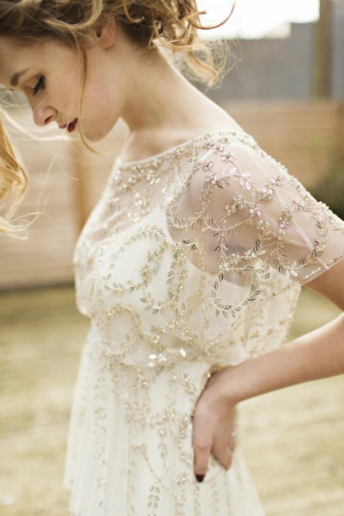 Robe de mariée de couleur robe de mariée colorée à la mode belle robe vintage robe avec paillettes