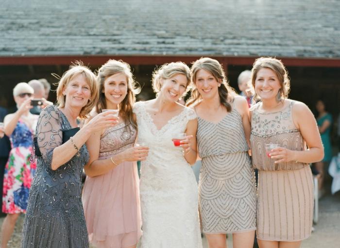 Elégante robe invité mariage robe mariage invitée robe femme chic les sœurs de la mariée et la mer