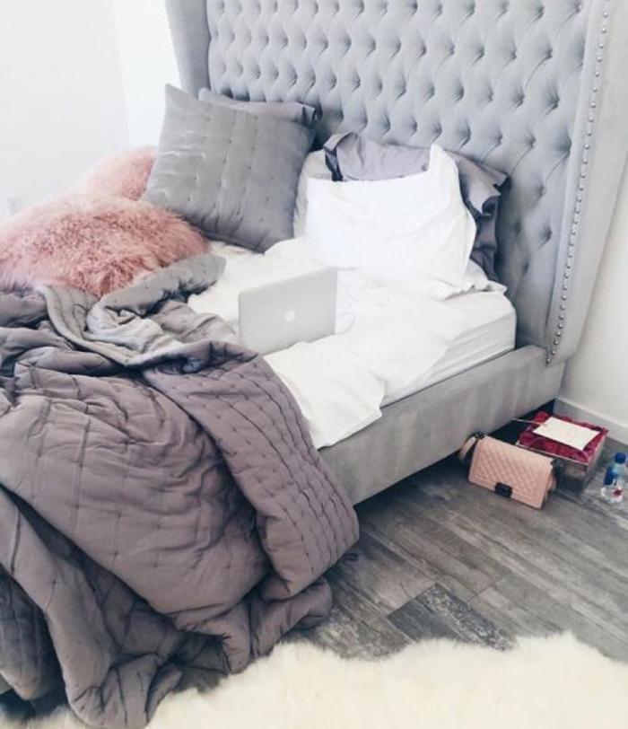 Matrimonio Bed Of Roses : Idées pour la décoration d une chambre gris et violet